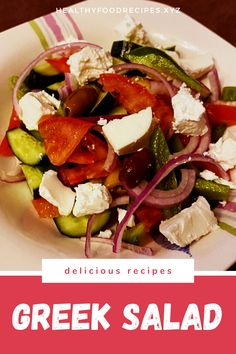 The traditional Greek salad recipe; healthy, simple and absolutely delicious! Find out how to make this Horiatiki (Xoriatiki) salad the traditional Greek way with this authentic recipe. Greek Yogurt Salad Dressing, Greek Chicken Salad, Greek Quinoa Salad, Greek Salad Pasta, Easy Greek Salad Recipe, Greek Salad Recipes, Healthy Salad Recipes, Greek Salad Calories, Salad Nutrition Facts