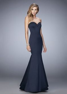 Stretch Satin Evening Gowns