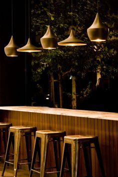 Elektra Bakery lampshade interior design - bar