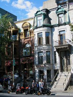 Rue St-Denis, Montréal - St-Denis street in Montreal Montreal Ville, Montreal Quebec, Quebec City, O Canada, Alberta Canada, Canada Travel, Beautiful Places To Visit, Places To See, Montreal Architecture