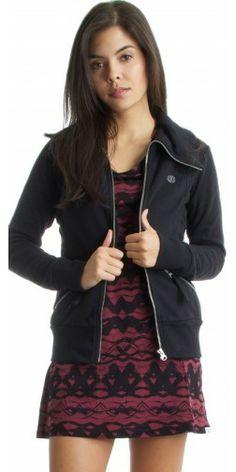 Element Mapped Fleece Jacket in Black - Urban Laundry (urbanlaundry.com)