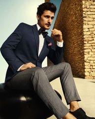 Mediterranean style! #Groom #Groomsmen #Wedding #Black #Blue #Grey #Tuxedo #Suit #Mens. @Celebstylewed