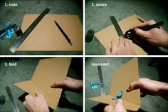 Makedo Tips and Tricks - How to make a clean cardboard fold and lock it into place using Makedo. Details here http://bit.ly/yCQtRH