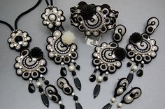 "Soutache Collection "" Black and White Movie """