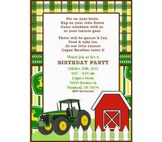John Deere FREE Printable Birthday Party Invitations Birthday