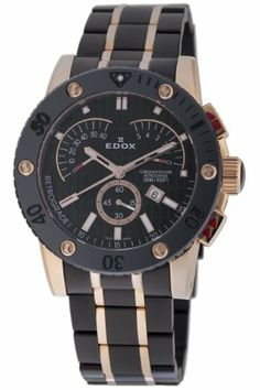 Edox Men's 01503 37RN NIR Class 1 Chronograph Retrograde Watch Edox. $1063.79. Chronograph retrograde. Designed textured dial. Black and rose-gold tone PVD. Water-resistant to 984 feet (300 M). Sapphire crystal. Luminous hands and hour markers; Screw-down security crown