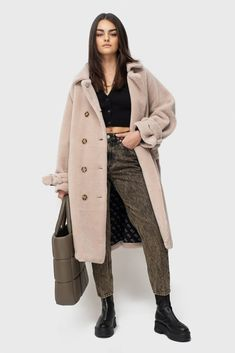 Tamara Beige 100% wool | Ducie Teddy Coat, Jacket Style, Cold Weather, Double Breasted, Duster Coat, Shop Now, Luxury Fashion, Comfy, Beige