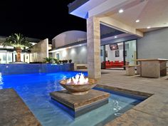 indoor outdoor luxury pool | beautiful luxury house design with outdoor pool and fireplace combined ...