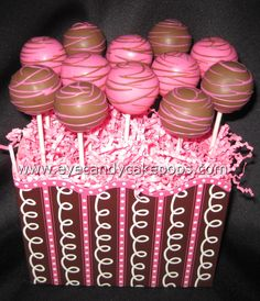 Chocolate and Hot Pink Cake Pops