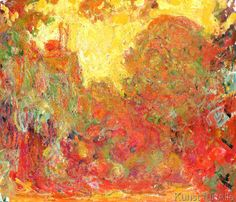 Claude Monet - The House seen from the Rose Garden, 1922-24