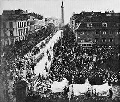 Der Trauerzug für die Prinzessin Elisabeth in Darmstadt, 19. November 1903