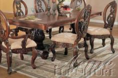 Dining Table With 6 Chairs7 Pcset Wyndmere Collection Cm3186Cht Simple Traditional Dining Room Sets Cherry Review