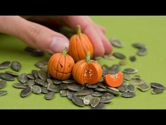 Hey Pretty! Click me :) Watch me transform a lump of orange polymer clay in adorable miniature pumpkins. I made a Halloween version for decoration and a cut ...