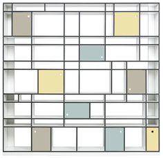 #Moormann #EGAL Mondrian Schub #bookcase #shelving unit