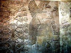 Cult Of The Ancient Gods  Mesopotamian eagle-headed deity ♥