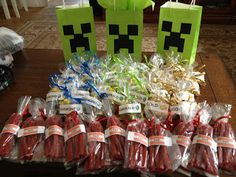"A Day in the Life of a Domestic Goddess: A ""Homemade"" Minecraft Birthday (Goodie bags)"