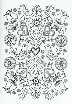 Flower Coloring Pages For Adults Printable - Free Coloring Sheets Adult Coloring Pages, Flower Coloring Pages, Printable Coloring Pages, Coloring Sheets, Printable Art, Coloring Books, Mandala Coloring, Simple Coloring Pages, Colouring