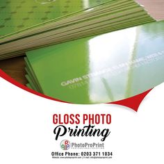 We offer good gloss photo printing at affordable price and in great picture quality. For more information please visit our website: http://www.photoproprint.com/or Call us: 0203 3711034