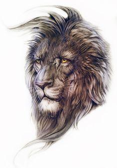 Leo by NeverGonnaTakeMe on DeviantArt Lion Head Tattoos, Mens Lion Tattoo, Wolf Tattoos, Animal Tattoos, Black Pen Sketches, Badass Tattoos, Tattoos For Guys, Lion Sketch, Lion Painting