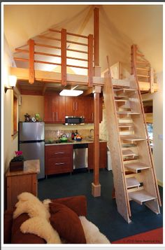 Tiny House... Netzero Interior. Pretty cute. Could you live here?