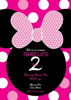 MInnie Mouse Invitation by BigloveDesignsPR on Etsy