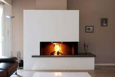 """Résultat de recherche d'images pour """"cheminée d'angle moderne"""""""