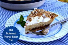 Mommy's Kitchen: Old Fashioned Peanut Butter Pie