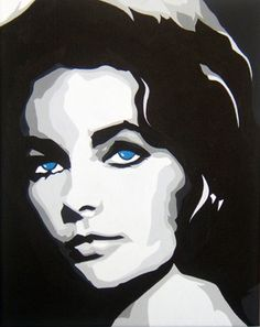 "Saatchi Online Artist Michael James Toomy; Painting, ""Elizabeth Taylor"" #art"