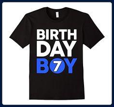 Mens Kids Birthday Boy 7 T Shirt Toddler 2XL Black