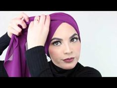 Simple jersey hijab - YouTube