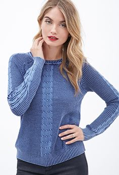 Cable Knit Waffle Sweater | Love21 - 2000101426