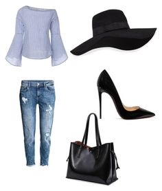 """Kreationzbymiyahmarie"" by princess-zamiyah on Polyvore featuring H&M, Christian Louboutin and San Diego Hat Co."