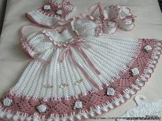Sweet Old fashioned baby set. Russian -charted.