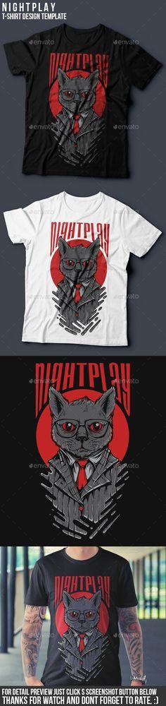 Nightplay T-Shirt Design illustration Vector EPS, Transparent PNG, AI Illustrator. Download here: http://graphicriver.net/item/nightplay-tshirt-design/16272334?ref=ksioks