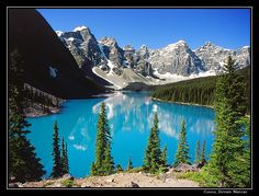 Moraine Lake, Banff National Park in the Canadian Rockies.   So big and beautiful and then some more.