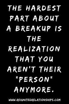 The hardest part about a breakup is the realization that you arent their Person anymore. Breakup hurt and deep break up pain quotes of love lost and trying to get over breakup. Sad Breakup Quotes, Breakup Memes, Breakup Hurt, Hurt Quotes, Love Pain Quotes, Quotes For Breakups, Wisdom Quotes, Breakup Advice, Funny Quotes