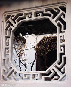 狮子林之花窗 Chinese Interior, Asian Interior, Interior Styling, Chinese Design, Chinese Style, Gate Design, House Design, Japanese Buildings, Asian House