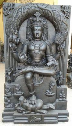 Shilpaloka stone sculpure of Shree Dakshinamooti This 4.5 x 2.5 feet schist sculpure made for Shree Shantadurga temple, Fatorpa Goa.
