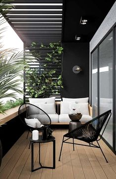modern outdoor seating area, modern outdoor furniture, modern outdoor living room with outdoor sofa and black house Modern Outdoor Living, Modern Balcony, Small Balcony Decor, Modern Outdoor Furniture, Balcony Decoration, Outdoor Sofa, Balcony Ideas, Balcony Garden, Outdoor Balcony