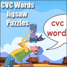 CVC Words Jigsaw Puzzle - short o, short u & short e - 6 free engaging puzzles to help students explore cvc words. Short O, Phonics Games, Word Free, Cvc Words, Word Study, Group Work, Small Groups, First Step, Jigsaw Puzzles
