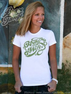 Signature Army Wife Fitted sizes S runs small by BravoTangoTees, $4.99
