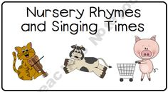 Tot Camp - Nursery Rhymes Freebie