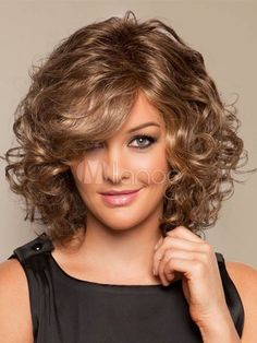 Fashion wig New Charm Women's Medium long Brown Blonde Curly Natural Hair wigs | Health & Beauty, Hair Care & Styling, Hair Extensions & Wigs | eBay!