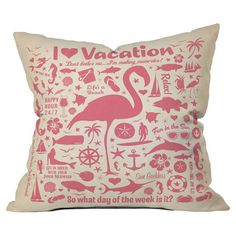 Throw pillow with beach motif by Anderson Design Group for DENY Designs. Made in the USA.  Product: PillowConstruction Ma...