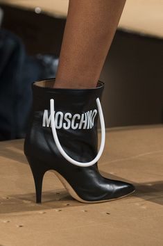 Moschino, Fall 2017 - The Beautiful and Bizarre Shoes on the Milan Runway - Photos