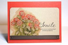 Watercolor Resist Poppies Card by Heather Nichols for Papertrey Ink (August 2013)