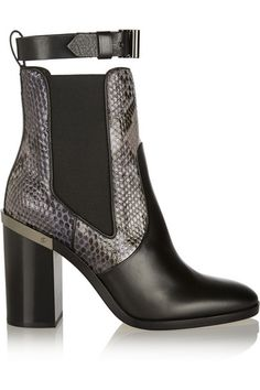 Reed Krakoff boot with snakeskin print