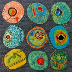 Material Mavens: Barbaras Cell Under the Microscope this could be done with Home Deco Barbaras Cell material Mavens Microscope textile art Quilt Modernen, Science Art, Embroidery Art, Embroidery Stitches, Fabric Art, Fabric Painting, Fiber Art, Needlework, Art Projects