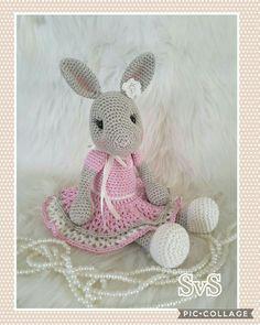 Easter Crochet, Crochet Bunny, Crochet Animals, Crochet Crafts, Crochet Dolls, Crochet Projects, Knit Crochet, Crochet Dog Patterns, Amigurumi Patterns