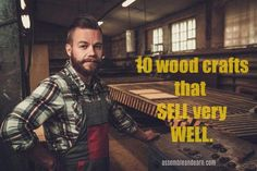 Best selling ideas for woodworking projects that sell well. Make more money with your woodworking business with these popular and easy DIY wood crafts. Outdoor Wood Projects, Wood Projects That Sell, Wood Projects For Beginners, Small Wood Projects, Wood Working For Beginners, Pallet Projects, Craft Projects, Small Woodworking Projects, Woodworking Projects Diy